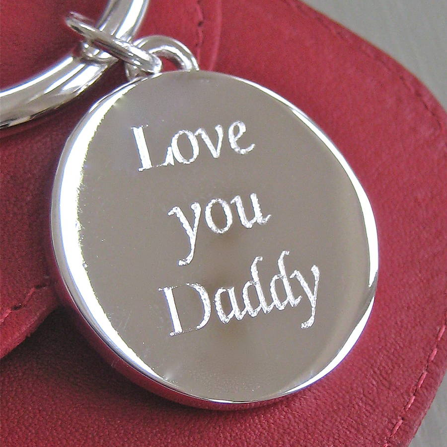 I Love You: Silver Plated 'love You Daddy' Keyring By Chapel Cards