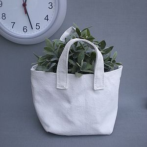 Marie Canvas Planter And Storage Bag - storage & planters