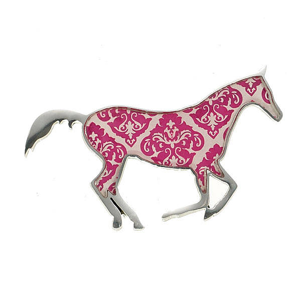 Damask Horse Brooch