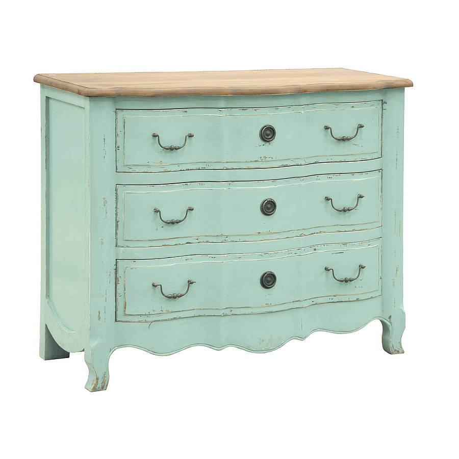 Vintage Chest Of Drawers ~ Vintage style turquoise chest of drawers by out there