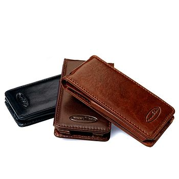 Leather Flip Case For iPhone 4 S. 'The Capizzi'