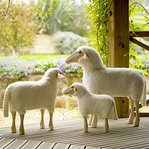 Sheep Footstool - footstools & pouffes