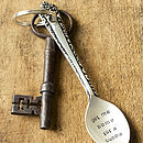 Personalised Silver Plated Spoon Keyring