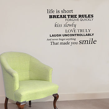 'Smile' Wall Sticker