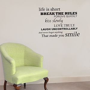 'Smile' Wall Sticker - dining room