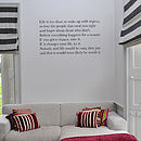 'Life Is Short' Wall Sticker