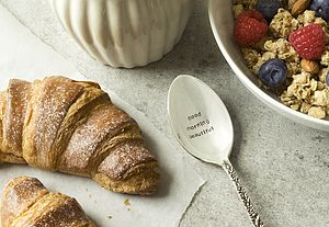 'Good Morning Handsome / Beautiful' Spoon - tableware