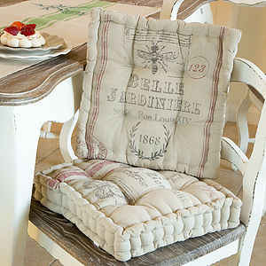 Belle Jardinere Seat Pads - patterned cushions
