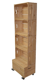 Apple Crate Shelving Storage Four High