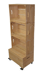 Apple Crate Shelving Storage Three High