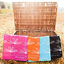 Etched Floral Tea Towel Collection