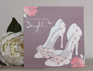 'Fabulous Daughter' Hand Embellished Card