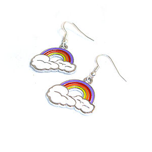 Rainbow Cloud Earring - earrings