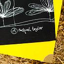 B&W Etched Floral Apron Logo