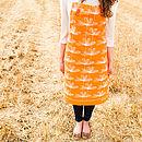Orange Etched Floral Apron
