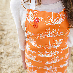 Orange Etched Floral Apron - view all sale items