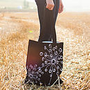 Black Quirky Motifs Canvas Bag