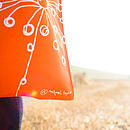 Orange Quirky Motifs Canvas Bag Logo