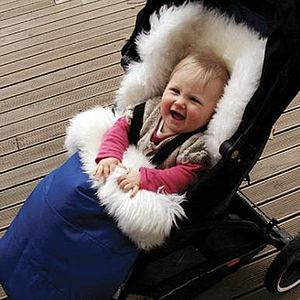 Sheepskin Baby Foot Muff - baby & child