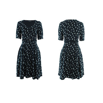 Daisy Print Dorothy Dress