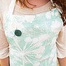 Sea Green Cow Parsley Apron Buttons