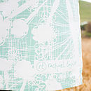 Sea Green Cow Parsley Apron Logo