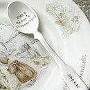 Personalised Silver Plated Fiddle Spoon
