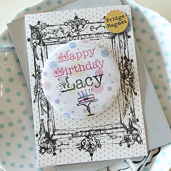 Personalised Magnet Birthday Card