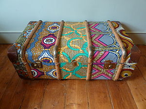 Tribal Print Trunk - boxes, trunks & crates