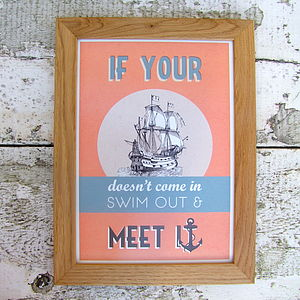 Ship Swim And Anchor Print