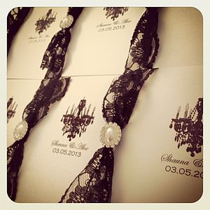 Paris Lace Wedding Invitations - invitations