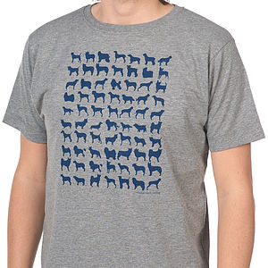 Dog Breed Silhouettes T Shirt - t-shirts & vests
