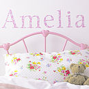 Personalised Daisy Wall Letters