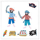 Personalised Pirate Wall Letter Stickers