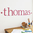 Personalised Red Star Wall Letter Stickers