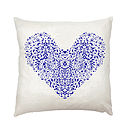Folk Heart Cushion