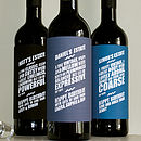 Wine Personality Labels main