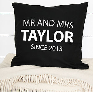 Mr And Mrs Cushion Cover - cushions