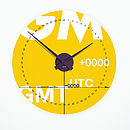 GMT Clock on light wall