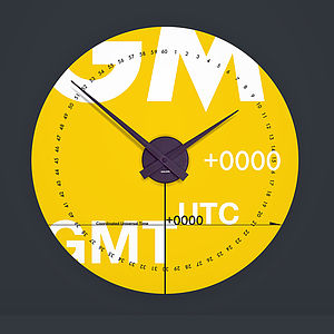 GMT Wall Clock - living & decorating