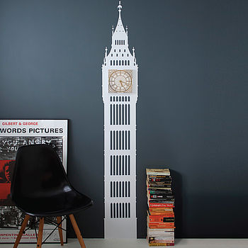 Big Ben White & Gold Wall Clock