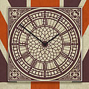 Union Jack Big Ben Wall Clock