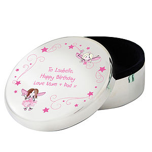 Personalised Fairy Trinket Jewellery Box - flower girl gifts