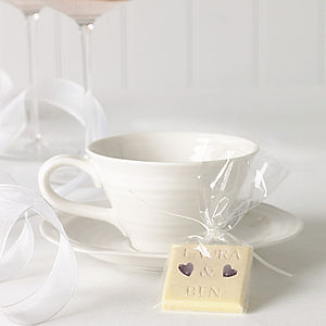 Personalised Chocolate Favours, Set Of 50 - weddings sale