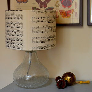 Vintage Music Lampshade - lamp bases & shades