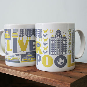 Liverpool Typographic Mug - tableware