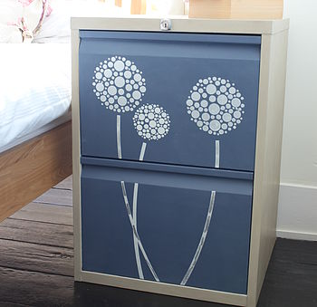 Personalised Flower Filing Cabinet
