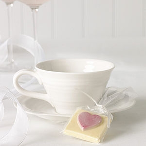 Chocolate Heart Favours - wedding favours