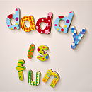 Magnetic French Wooden Alphabet Letters