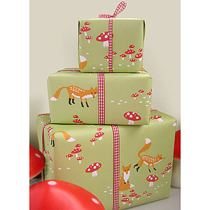 Foxes Eco Wrapping Paper Pack - wrapping paper